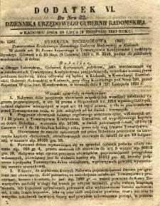 Dziennik Urzędowy Gubernii Radomskiej, 1851, nr 32, dod.VI