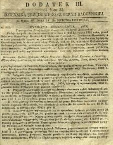 Dziennik Urzędowy Gubernii Radomskiej, 1851, nr 35, dod. III