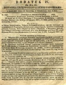 Dziennik Urzędowy Gubernii Radomskiej, 1851, nr 36, dod. IV