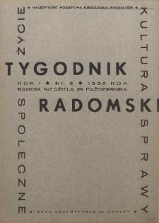 Tygodnik Radomski, 1933, R. 1, nr 3