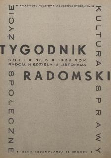 Tygodnik Radomski, 1933, R. 1, nr 5
