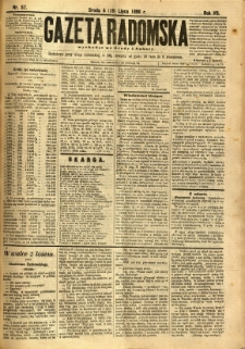 Gazeta Radomska, 1890, R. 7, nr 57