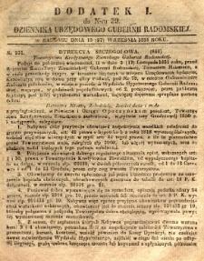 Dziennik Urzędowy Gubernii Radomskiej, 1851, nr 39, dod. I