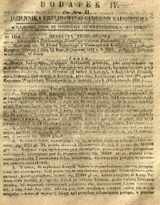 Dziennik Urzędowy Gubernii Radomskiej, 1851, nr 41, dod. IV