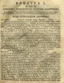 Dziennik Urzędowy Gubernii Radomskiej, 1851, nr 44, dod. I
