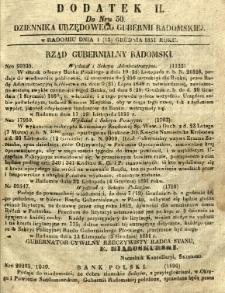 Dziennik Urzędowy Gubernii Radomskiej, 1851, nr 50, dod. II