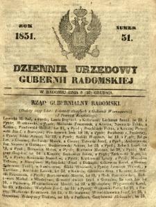 Dziennik Urzędowy Gubernii Radomskiej, 1851, nr 51