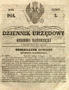 Dziennik Urzędowy Gubernii Radomskiej, 1854, nr 2