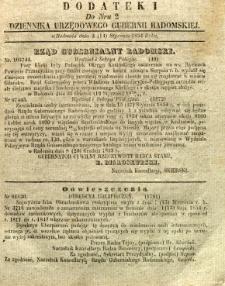 Dziennik Urzędowy Gubernii Radomskiej, 1854, nr 2, dod. I