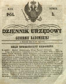 Dziennik Urzędowy Gubernii Radomskiej, 1854, nr 3