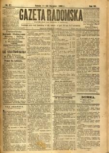 Gazeta Radomska, 1890, R. 7, nr 67