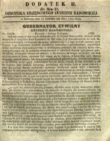 Dziennik Urzędowy Gubernii Radomskiej, 1854, nr 18, dod. II