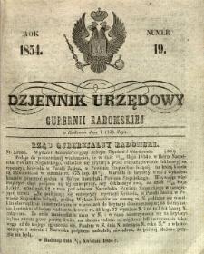 Dziennik Urzędowy Gubernii Radomskiej, 1854, nr 19