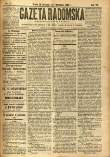 Gazeta Radomska, 1890, R. 7, nr 72