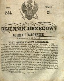 Dziennik Urzędowy Gubernii Radomskiej, 1854, nr 24