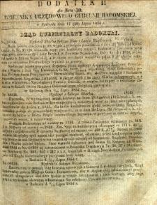 Dziennik Urzędowy Gubernii Radomskiej, 1854, nr 30, dod. II