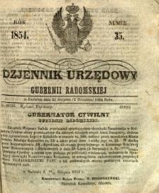 Dziennik Urzędowy Gubernii Radomskiej, 1854, nr 35