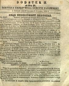 Dziennik Urzędowy Gubernii Radomskiej, 1854, nr 36, dod. II