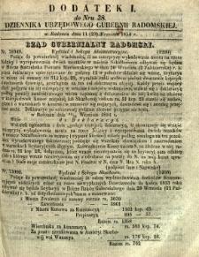 Dziennik Urzędowy Gubernii Radomskiej, 1854, nr 38, dod. I