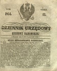 Dziennik Urzędowy Gubernii Radomskiej, 1854, nr 42