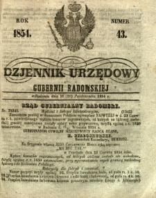 Dziennik Urzędowy Gubernii Radomskiej, 1854, nr 43