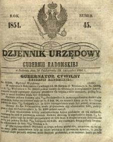 Dziennik Urzędowy Gubernii Radomskiej, 1854, nr 45