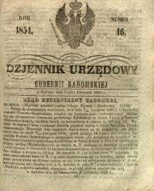 Dziennik Urzędowy Gubernii Radomskiej, 1854, nr 46