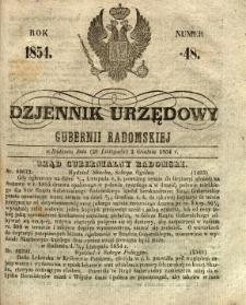 Dziennik Urzędowy Gubernii Radomskiej, 1854, nr 48