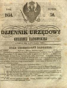 Dziennik Urzędowy Gubernii Radomskiej, 1854, nr 50
