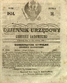 Dziennik Urzędowy Gubernii Radomskiej, 1854, nr 51