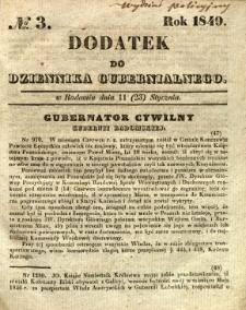 Dodatek do Dziennika Gubernialnego, 1849, nr 3