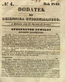 Dodatek do Dziennika Gubernialnego, 1849, nr 4