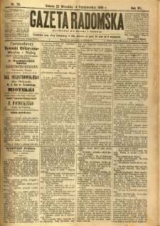 Gazeta Radomska, 1890, R. 7, nr 79