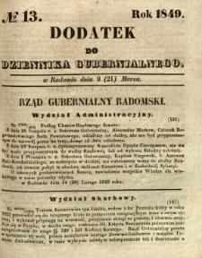 Dodatek do Dziennika Gubernialnego, 1849, nr 13