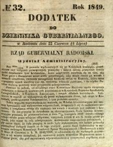 Dodatek do Dziennika Gubernialnego, 1849, nr 32