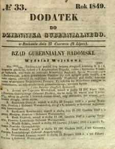 Dodatek do Dziennika Gubernialnego, 1849, nr 33