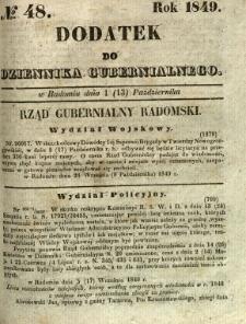 Dodatek do Dziennika Gubernialnego, 1849, nr 48
