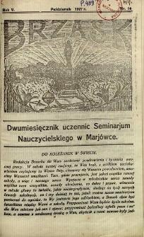 Brzask: Dwumiesięcznik uczennic Seminarium Nauczycielskiego w Mariówce, 1927, R. 5, nr 14
