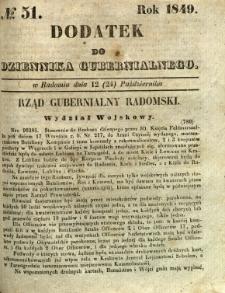 Dodatek do Dziennika Gubernialnego, 1849, nr 51