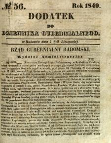 Dodatek do Dziennika Gubernialnego, 1849, nr 56