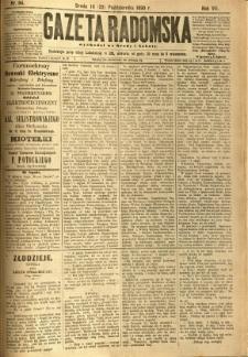 Gazeta Radomska, 1890, R. 7, nr 84