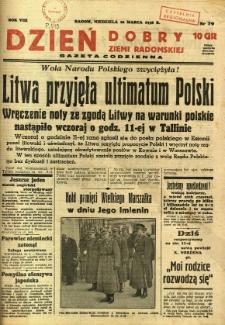 Dzień Dobry Ziemi Radomskiej, 1938, R. 8, nr 79