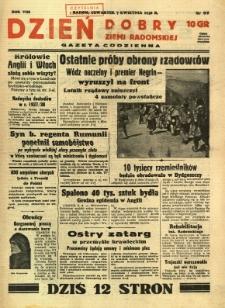 Dzień Dobry Ziemi Radomskiej, 1938, R. 8, nr 97