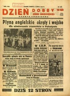 Dzień Dobry Ziemi Radomskiej, 1938, R. 8, nr 187