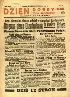 Dzień Dobry Ziemi Radomskiej, 1938, R. 8, nr 267