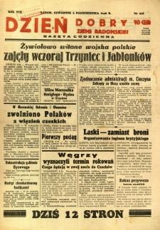 Dzień Dobry Ziemi Radomskiej, 1938, R. 8, nr 276