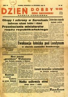 Dzień Dobry Ziemi Radomskiej, 1939, R. 9, nr 22