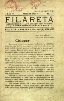 Filareta, 1927, R. 4, nr 1