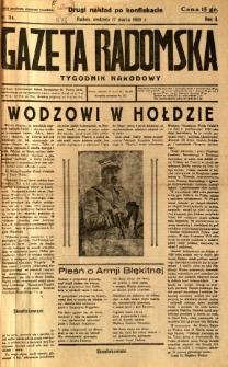 Gazeta Radomska : Tygodnik Narodowy, 1935, R. 2, nr 11a