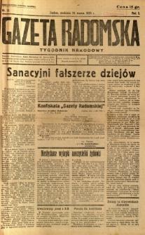 Gazeta Radomska : Tygodnik Narodowy, 1935, R. 2, nr 12